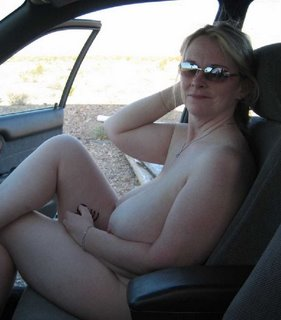 naked in the car