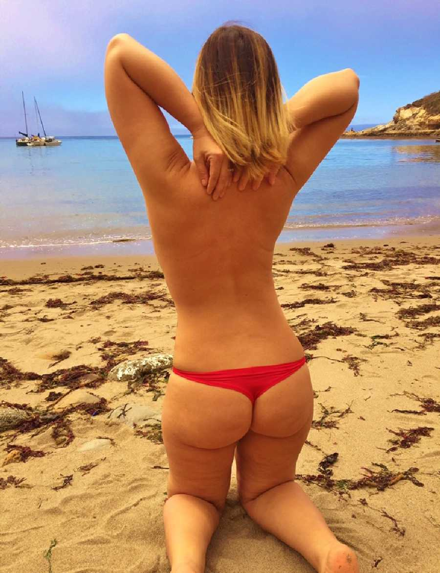 Butt on the Beach