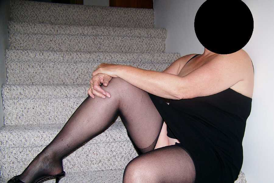 Black Dress & Stockings