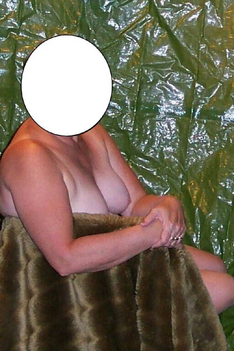 Faux Fur on Nude Wife