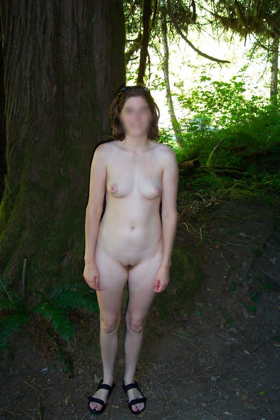 Wife Naked in the Woods