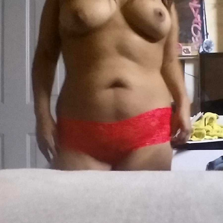 Red, Lace Panties