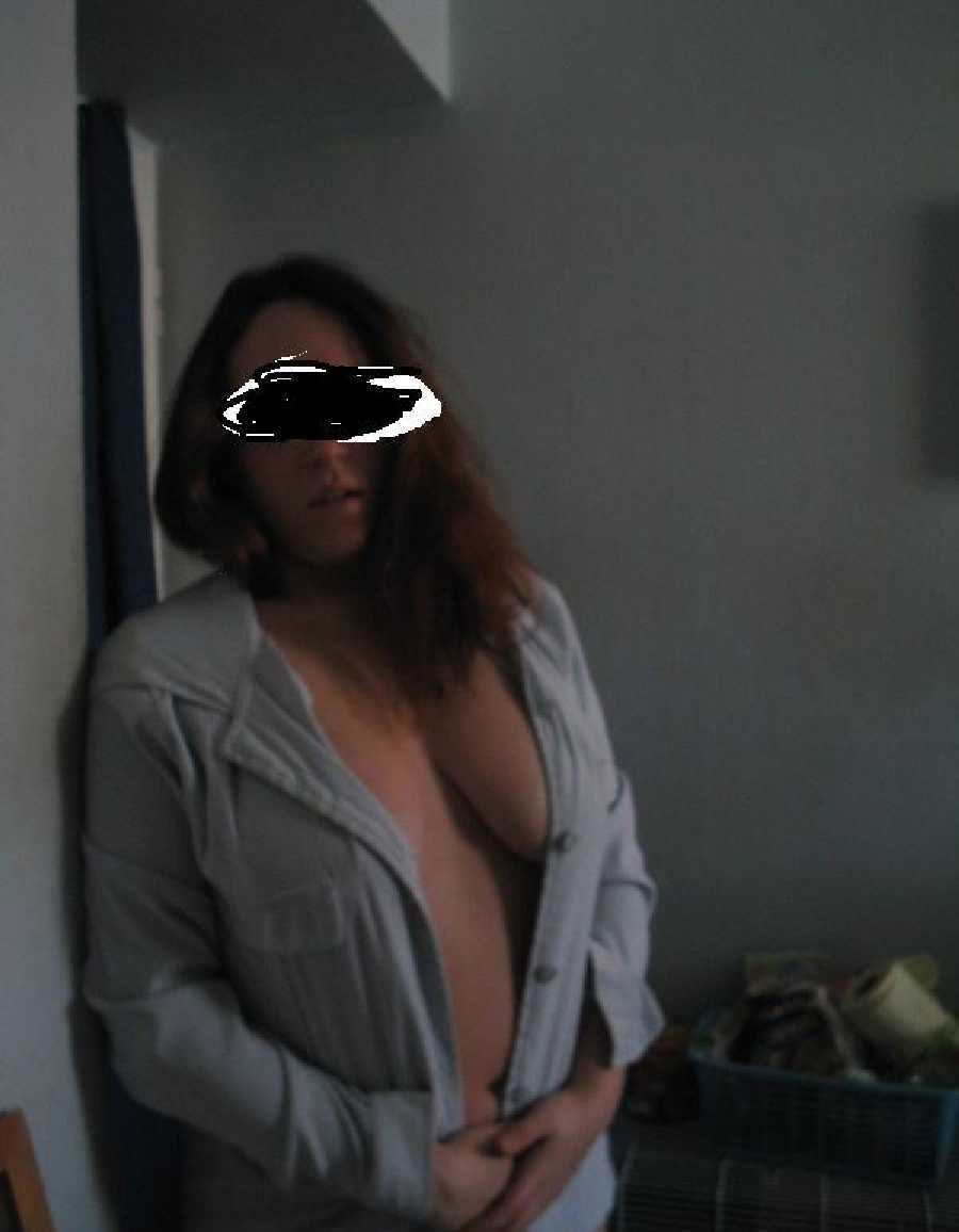 Wife Opening Her Shirt