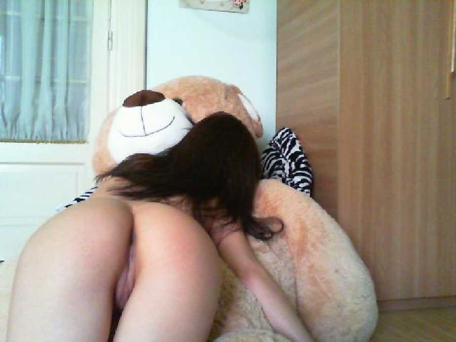 Naked with a Giant Teddy Bear Dare