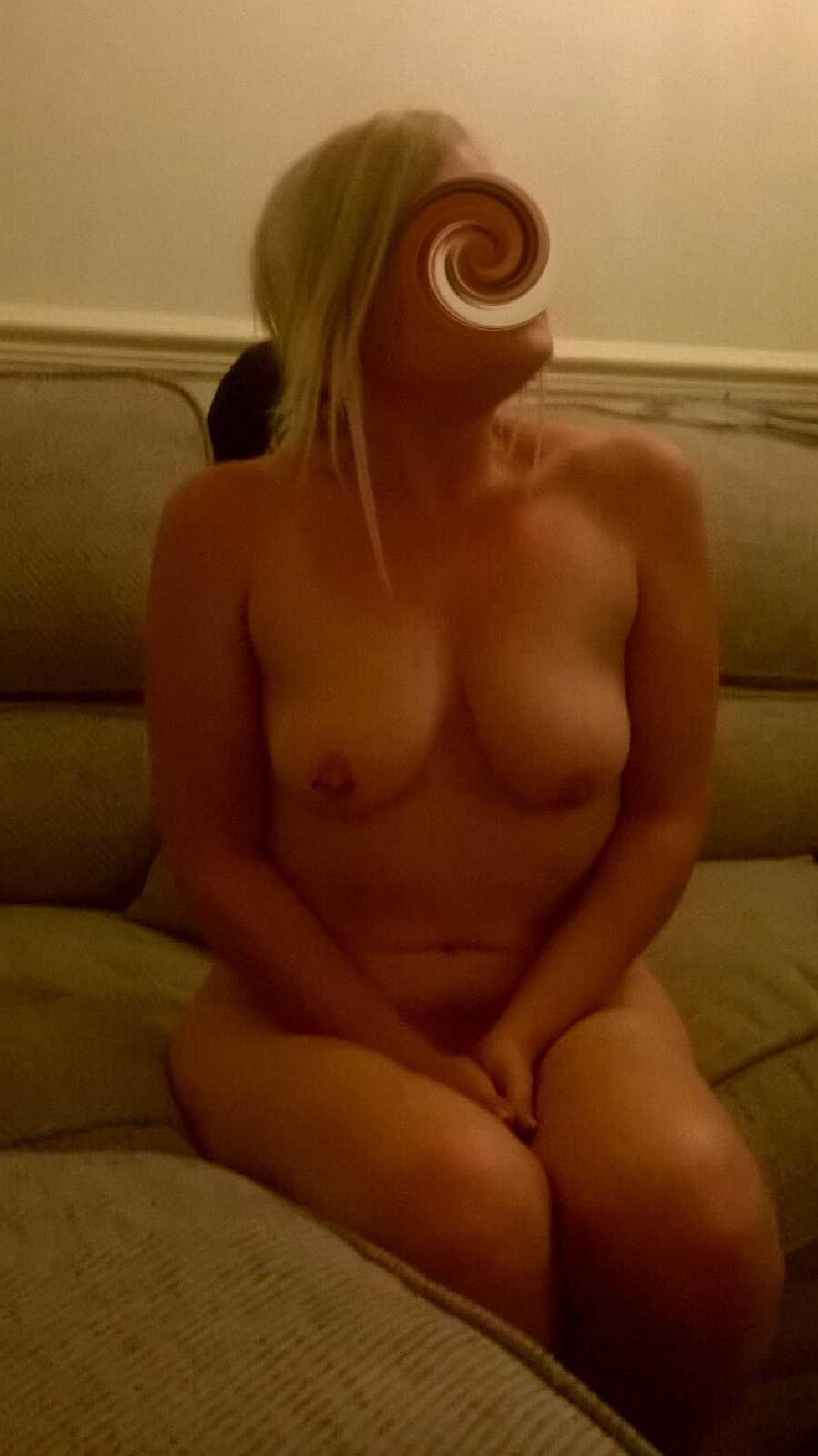 Blonde Opening Her Legs