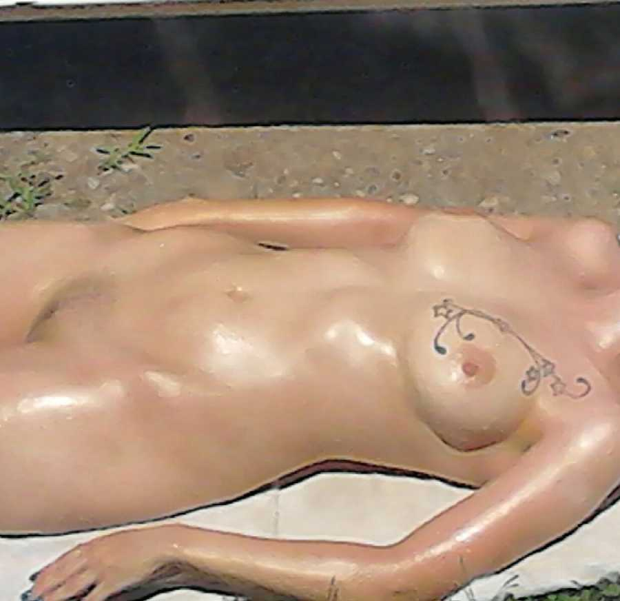 Sunbathing Naked in the Driveway