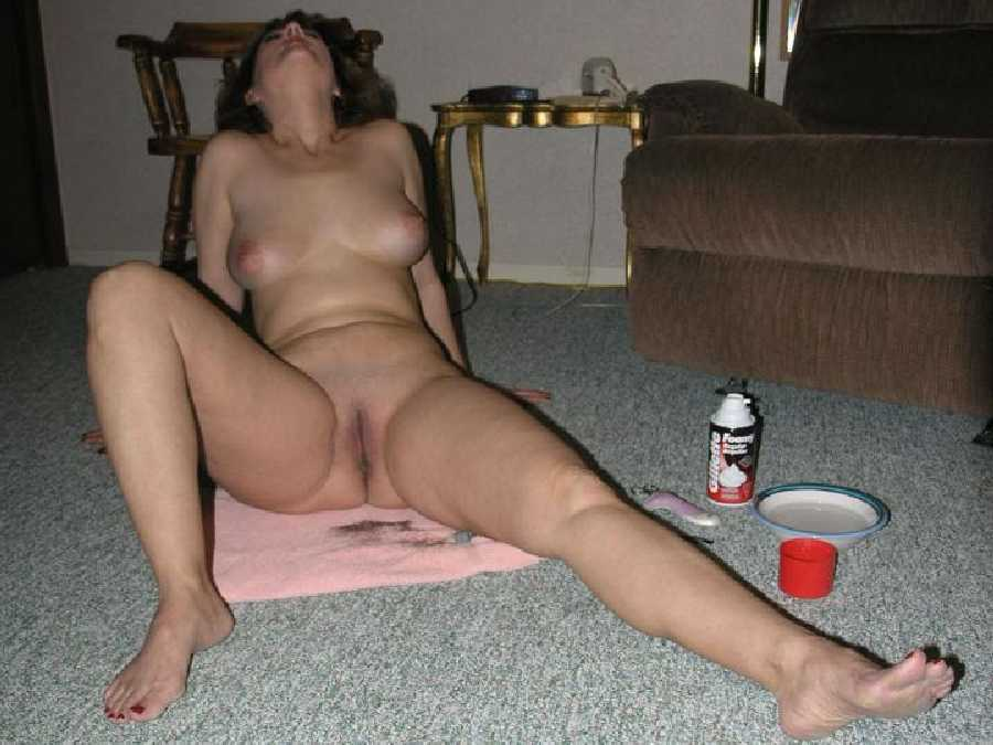 Wife's Shaved Pussy