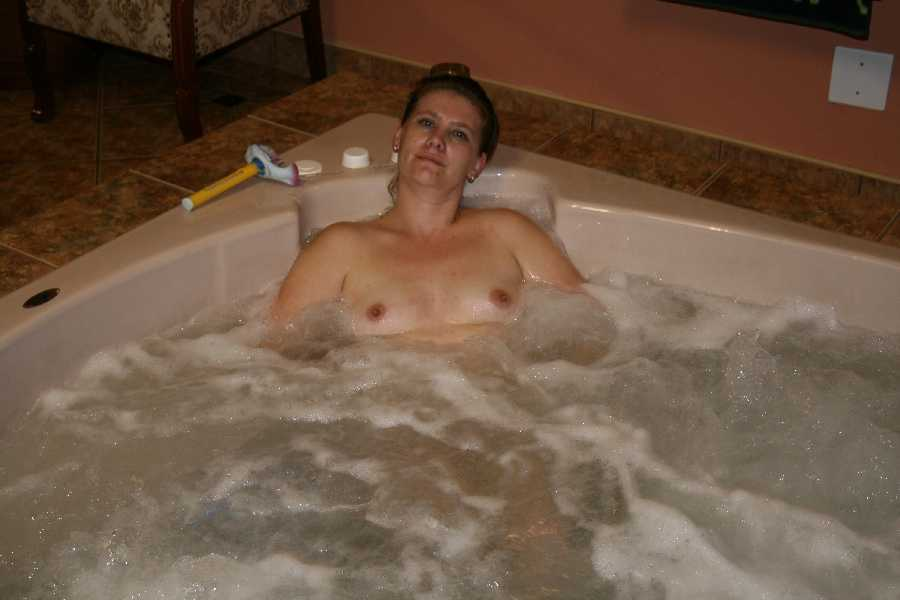 Esta in the Hot Tub