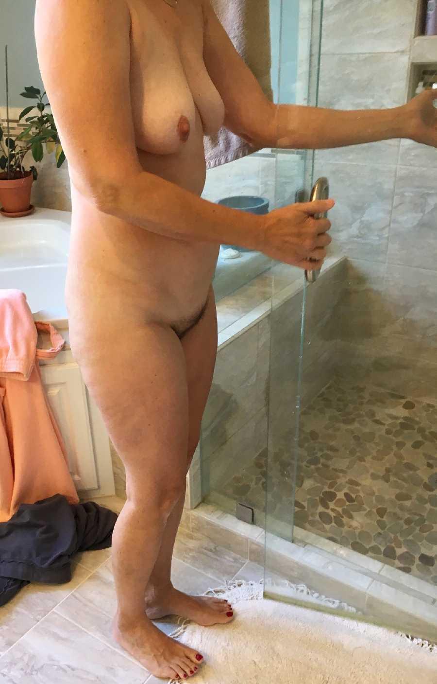 Dark Blue Panties & Shower Prep