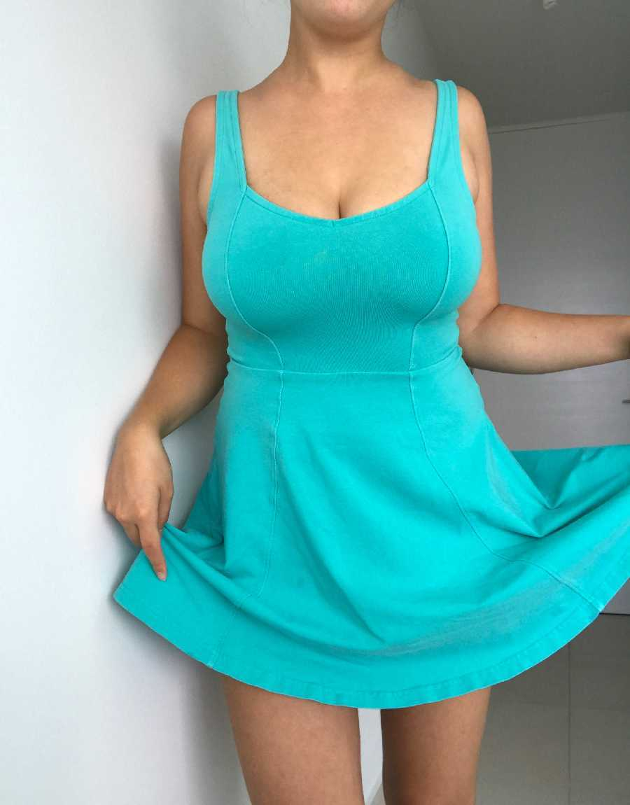 Sexy Wife with the Blue Dress