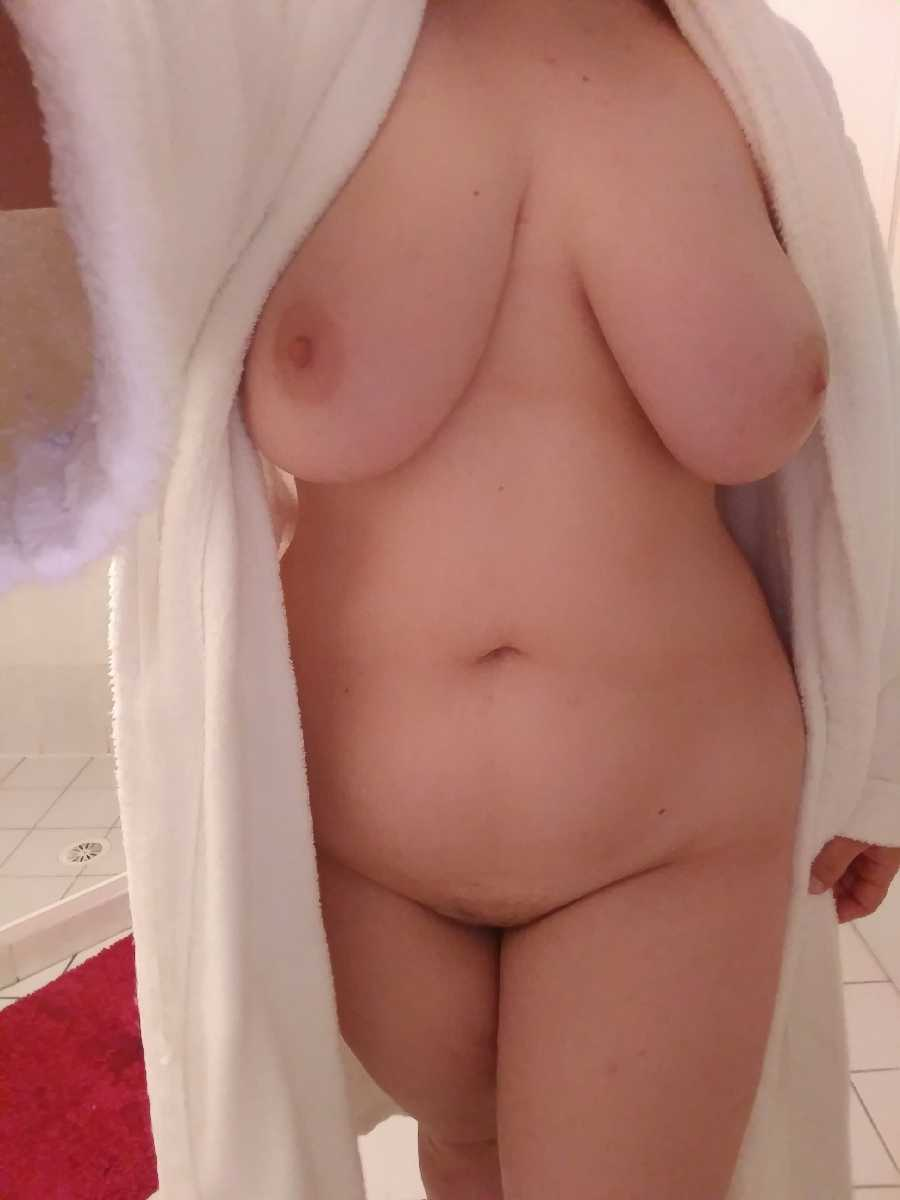 Open Bathrobe and Shower Pics