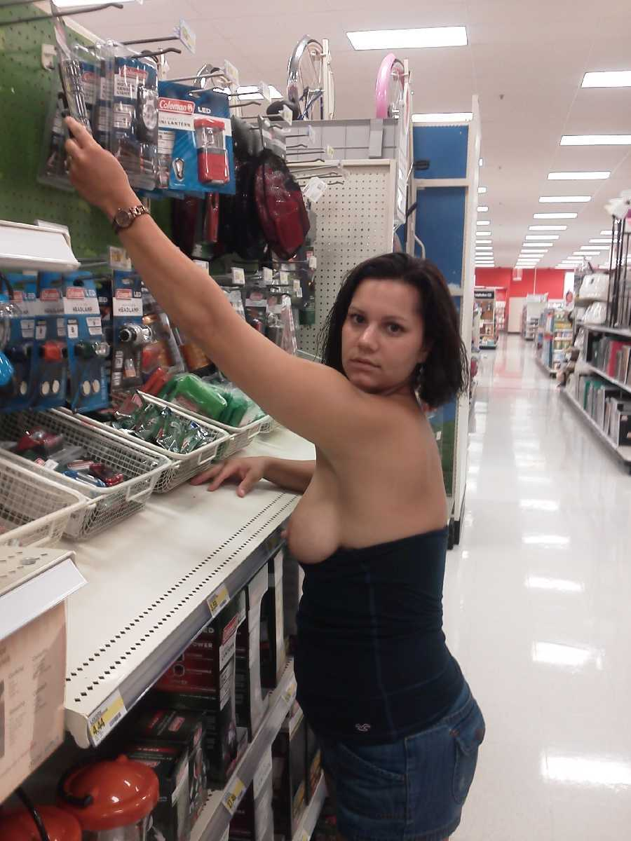 Public flashing in stores
