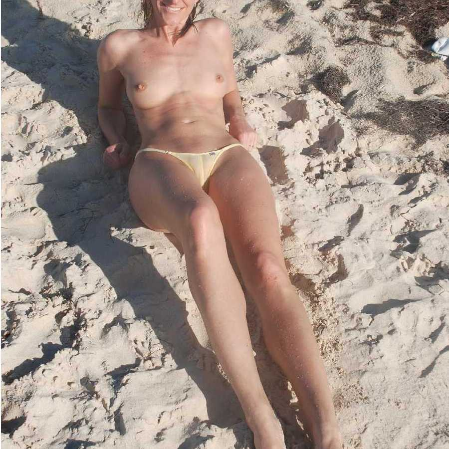 Wife s at topless beach handjob
