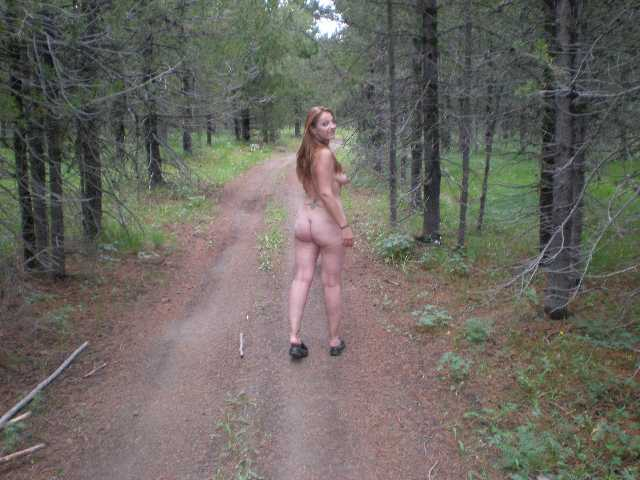 Naked On A Public Trail Dare Taking Nude Walk