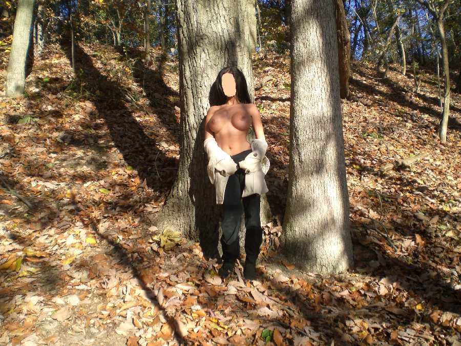 Naked in the Woods Dare