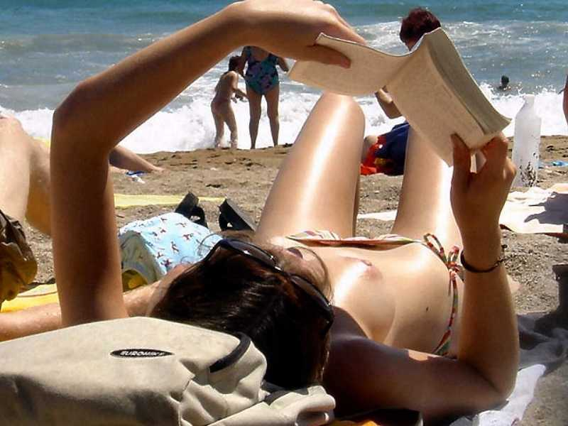Topless Wife on the Beach