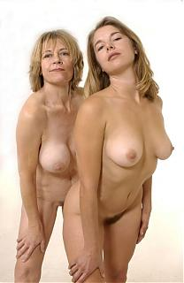 Mother and daughter strip naked
