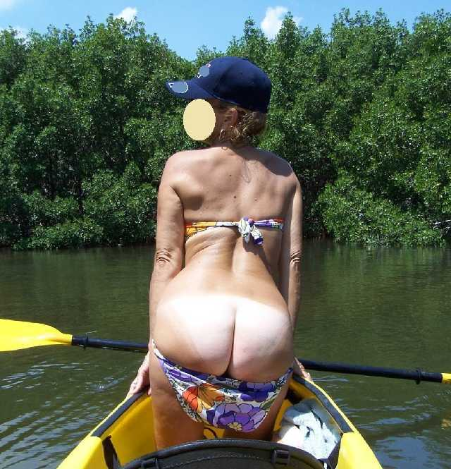 Nude Girl Naked In Kayak