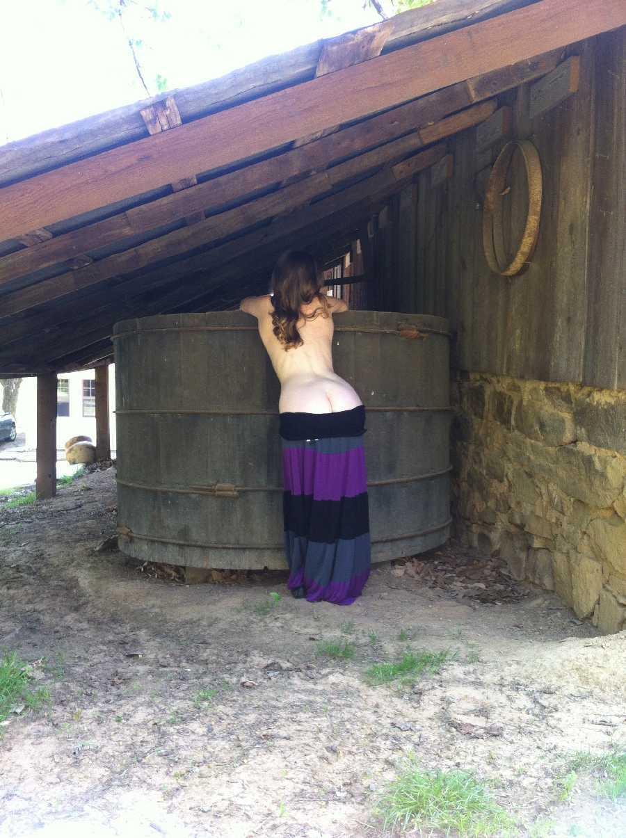 Winery Flashing Nude