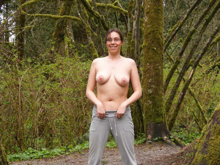 Wife Flashing In Woods