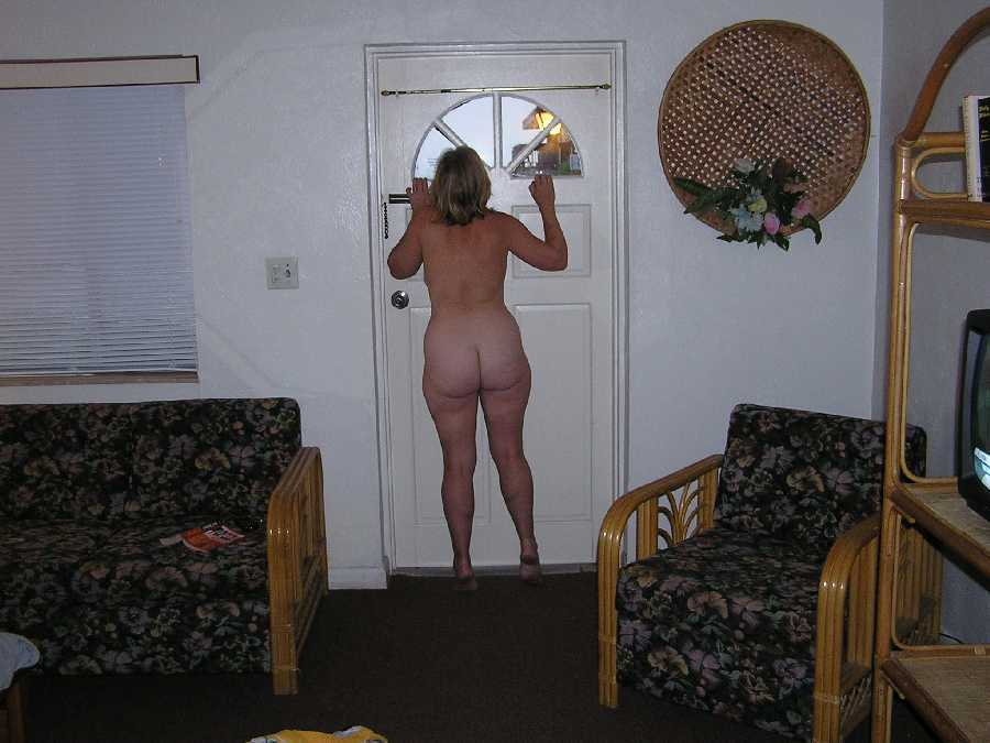 At the Door Naked