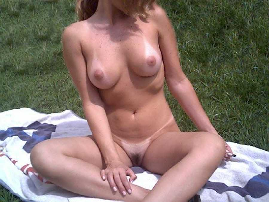 Wife Nude in the Park in Public
