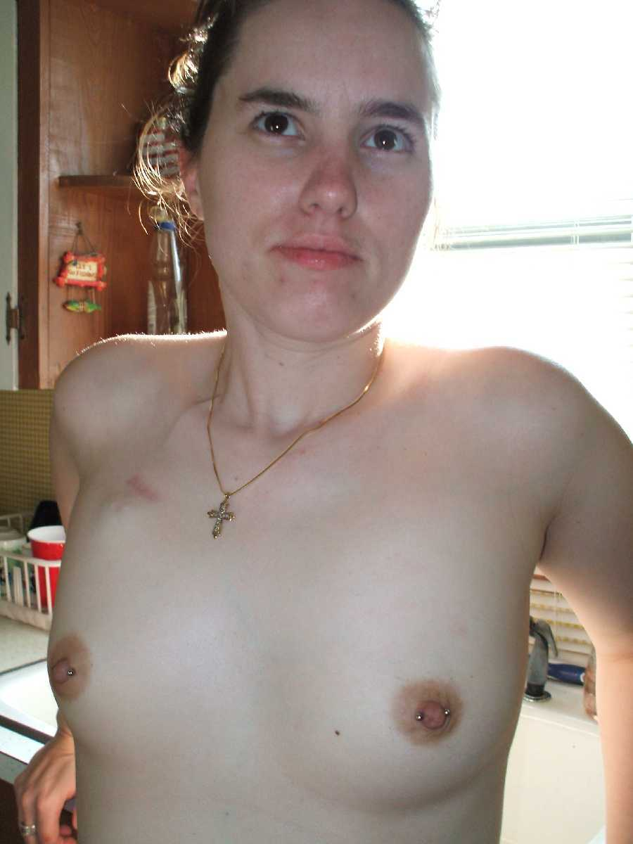 Girlfriend's Nude Tits - Pierced Nipples