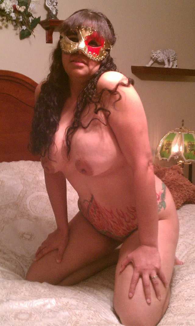 Nude Girl with a Sexy Mask