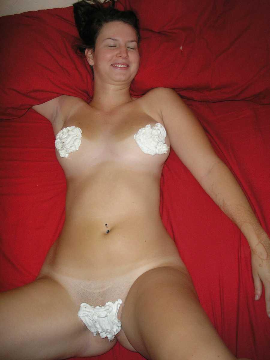 Nude whipped cream bikini