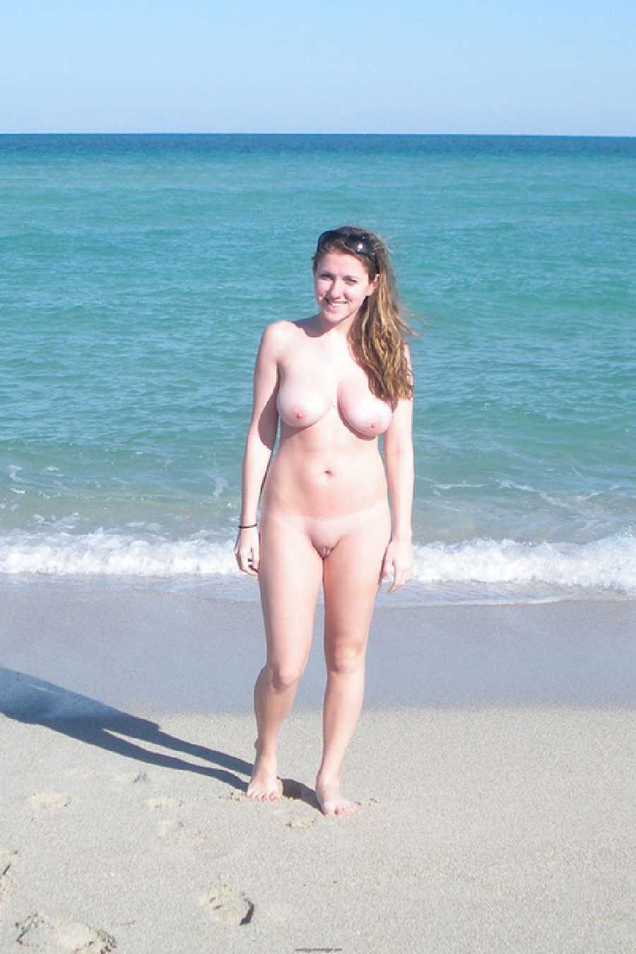 Amateur nude beach sex public