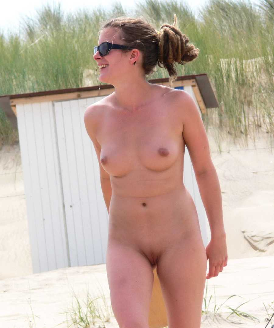Wife at beach nude