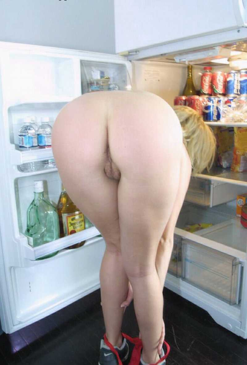 Nude bent wife