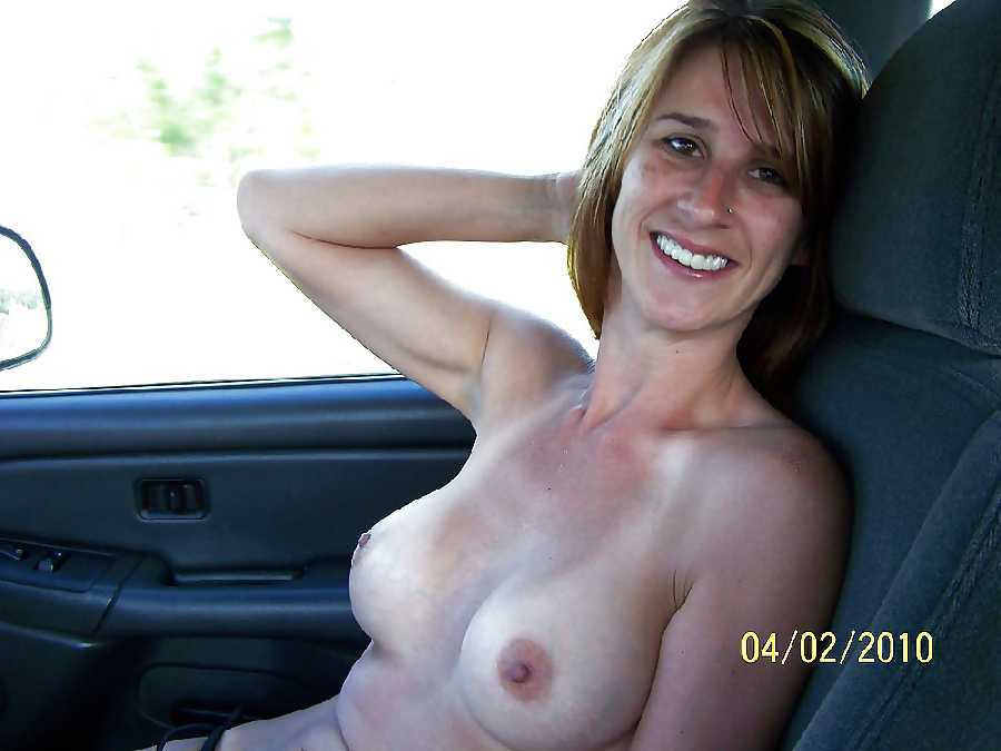 Women flashing naked boobs from cars