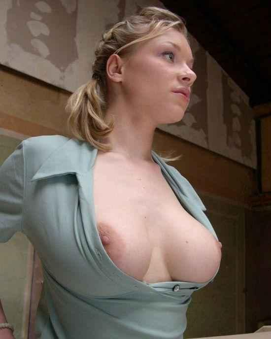 Tits Popping Out Shirts Big Boobs