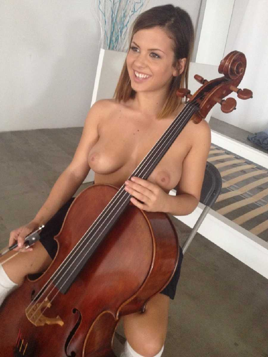 Naked cello girl — img 14