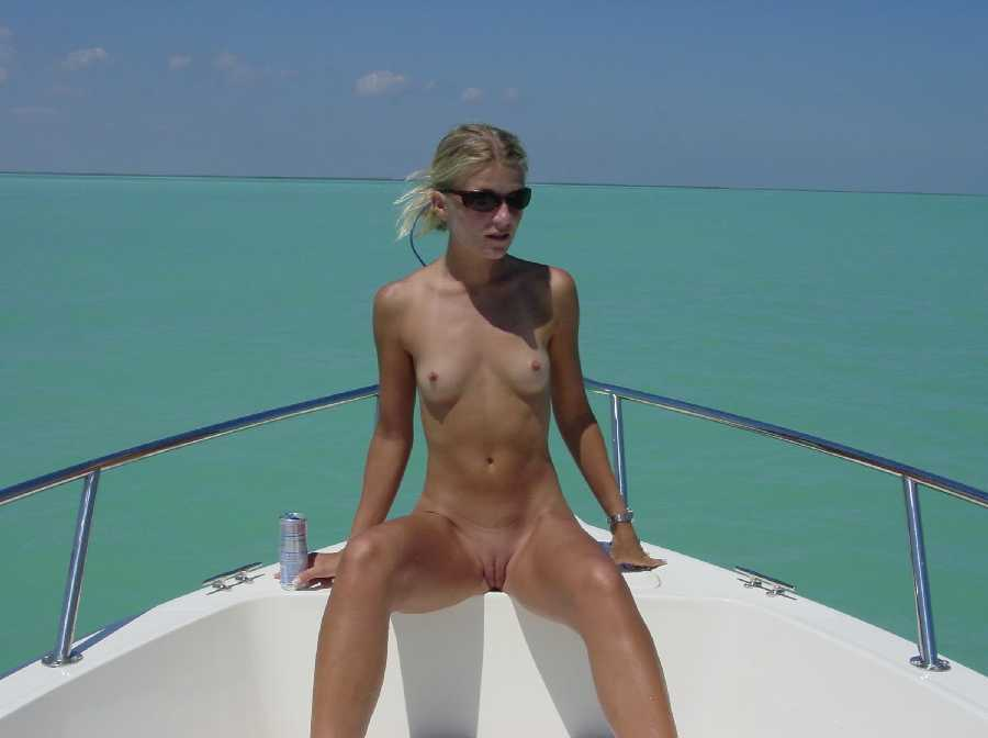 Chicks girls on boats topless