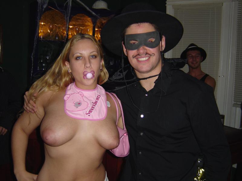 Slutty costume nude