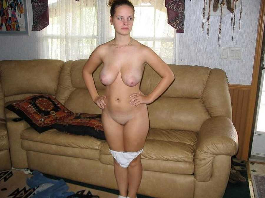 Cute blonde wife naked