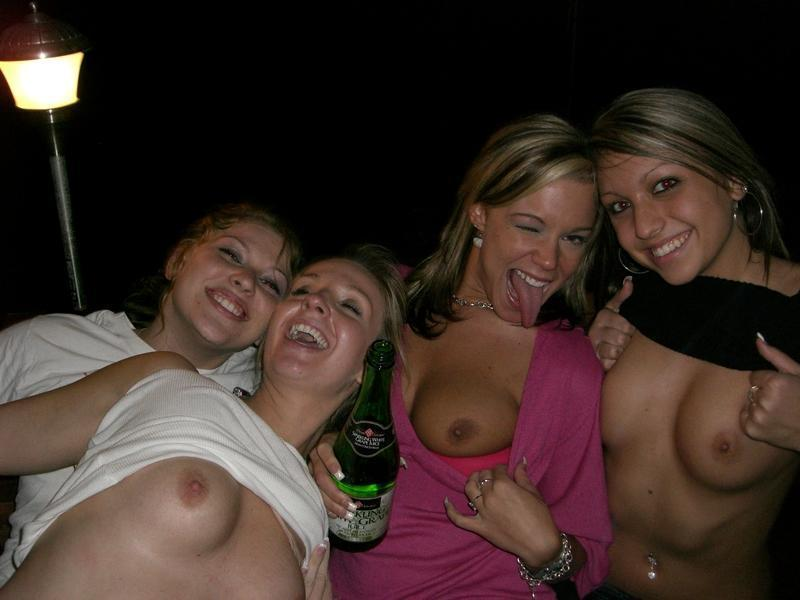 grabbing friends boobs
