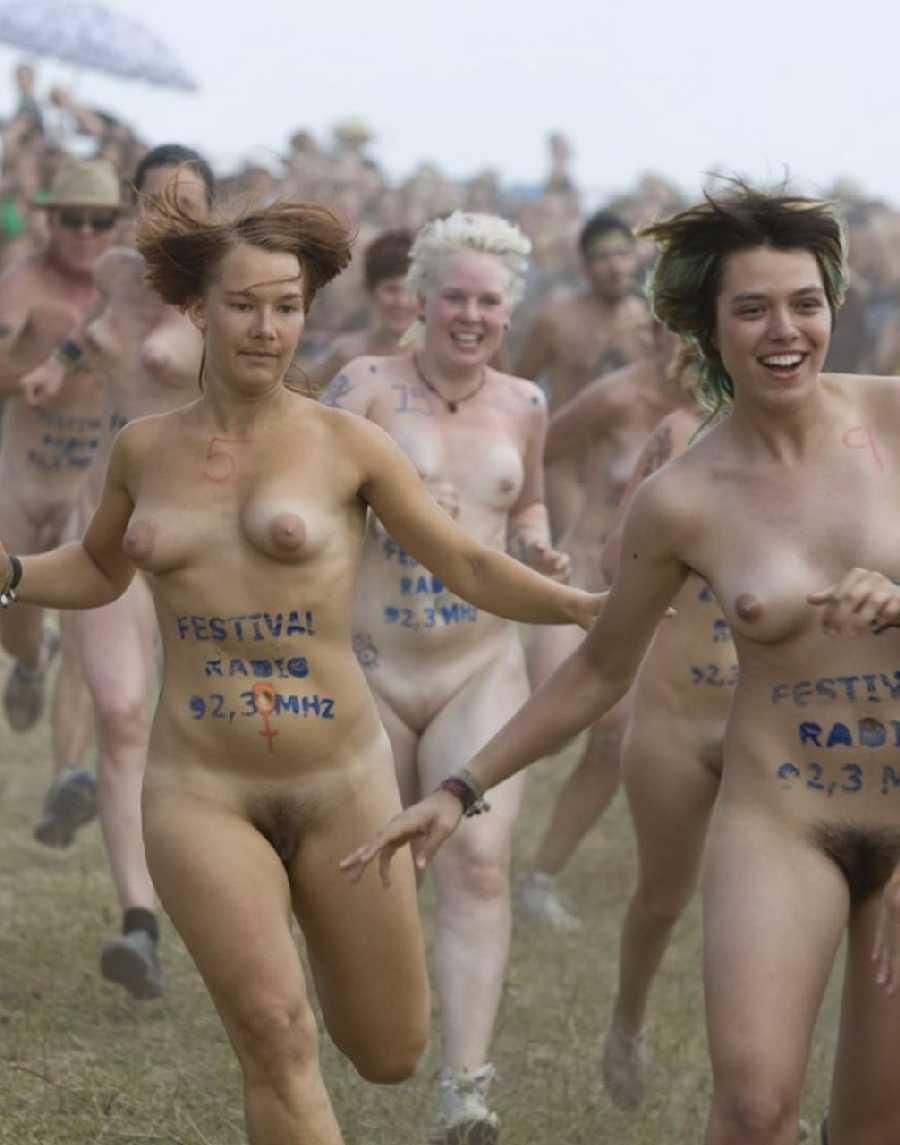 White girl naked turned around