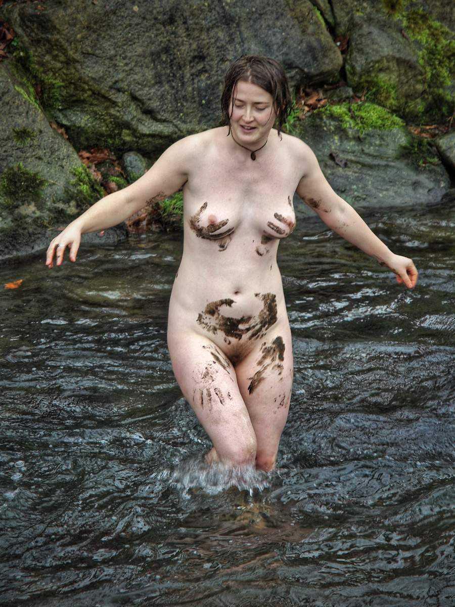 Mud naked girls in Naked in