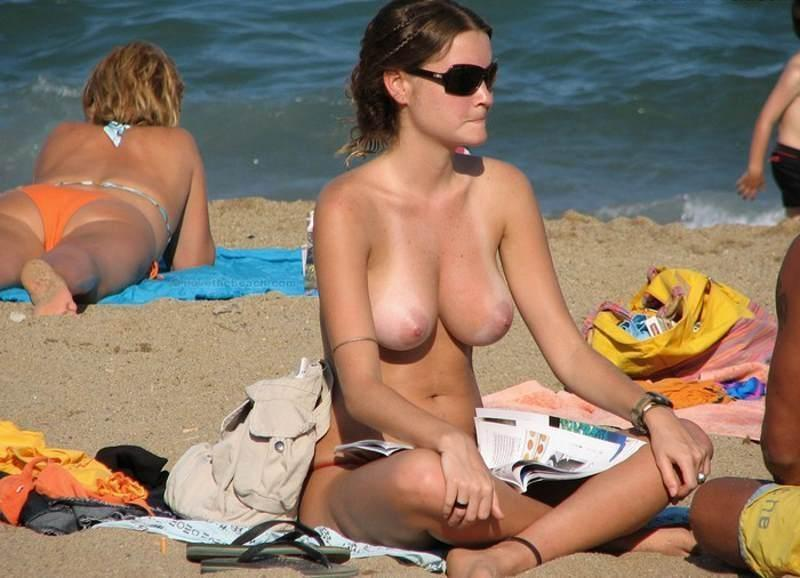 Naked women on beaches