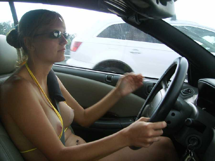 Wife naked in car vids
