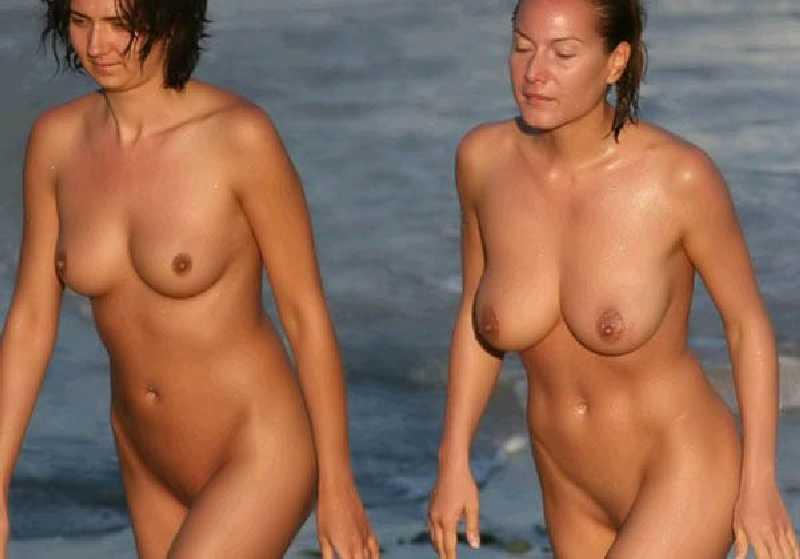 Nude women on beach - brazil