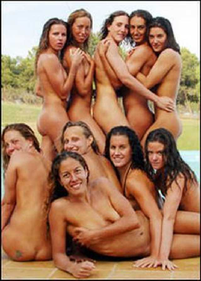 nude team photo