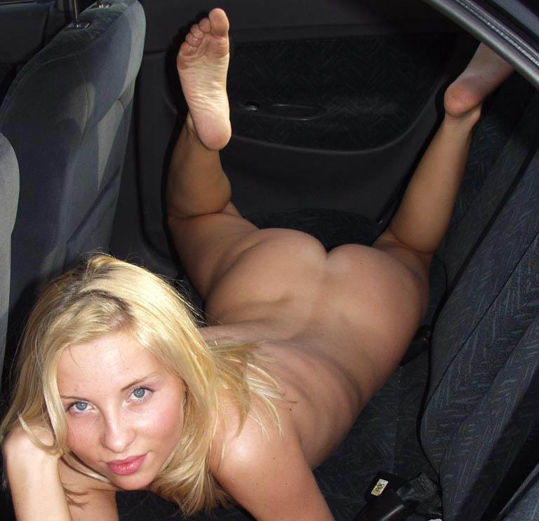 Naked girl with car #3