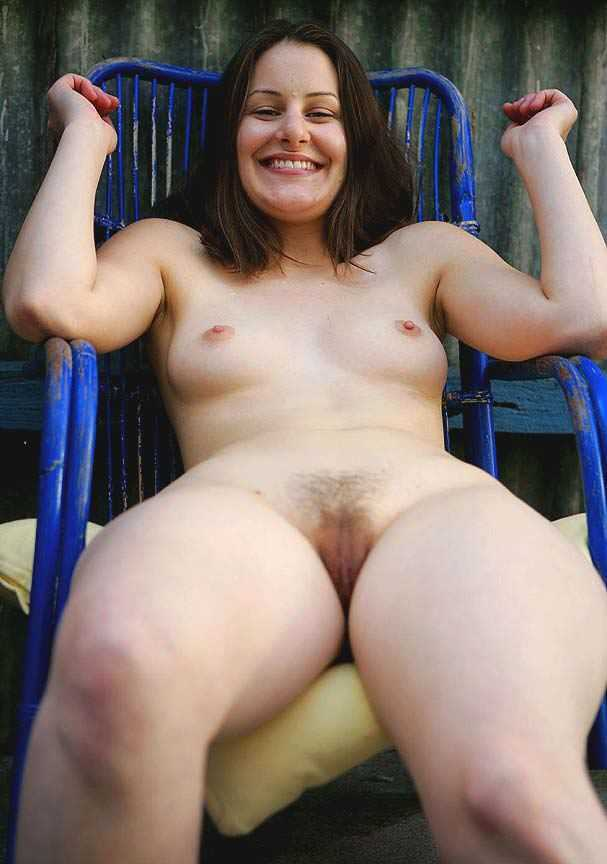 Nude wife lounging