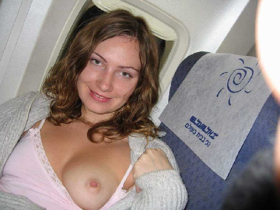 Naked plane Girls on a