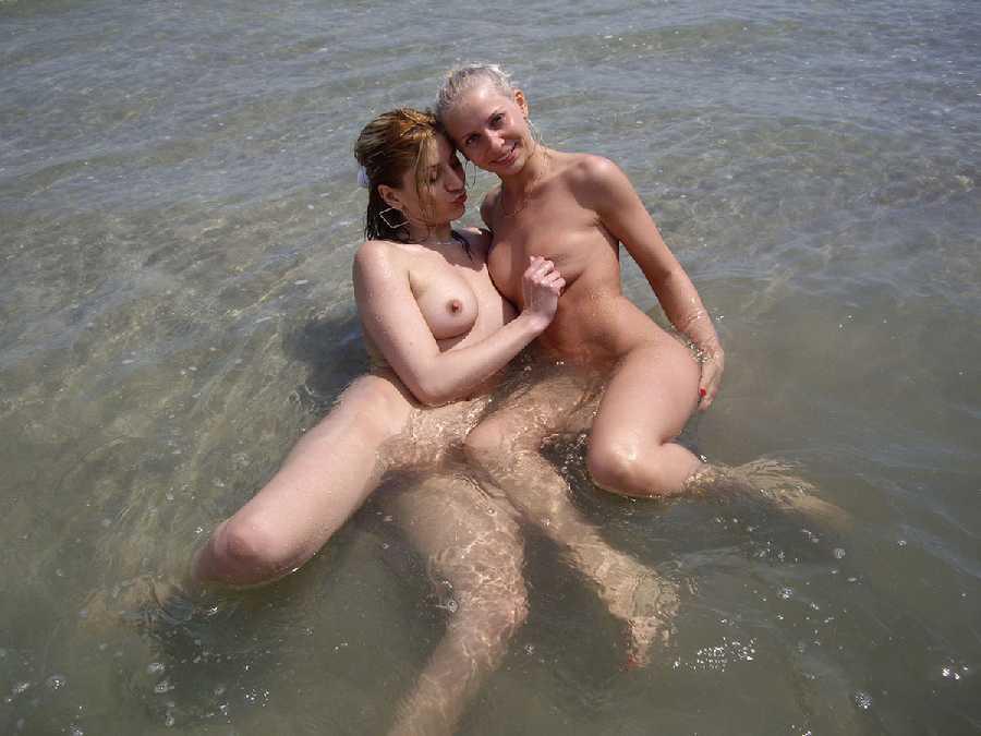 Adult nudist couple swingers