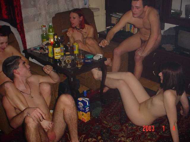 Some hot young drunk party students.